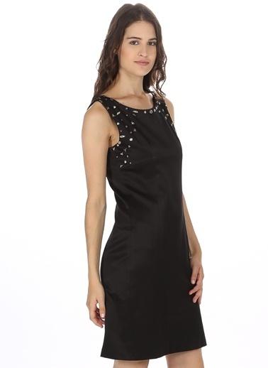 Asymmetry Kolsuz Kısa Elbise Siyah